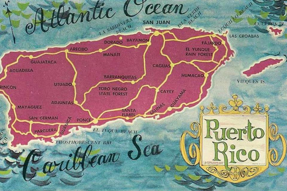 960x640 Cool Map Drawing Of Puerto Rico Favorite Places Amp Spaces