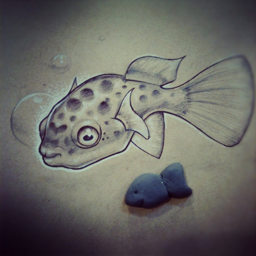 Pufferfish Drawing at GetDrawings.com | Free for personal use ...