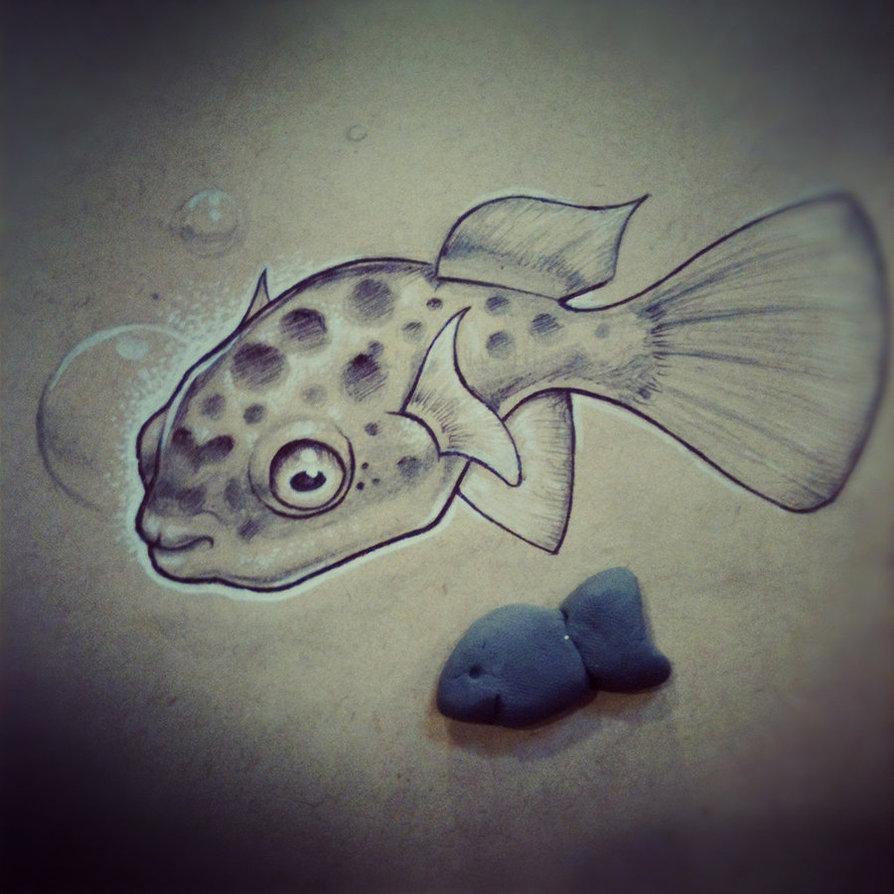 894x894 Puffer Fish By Jordanmendenhall