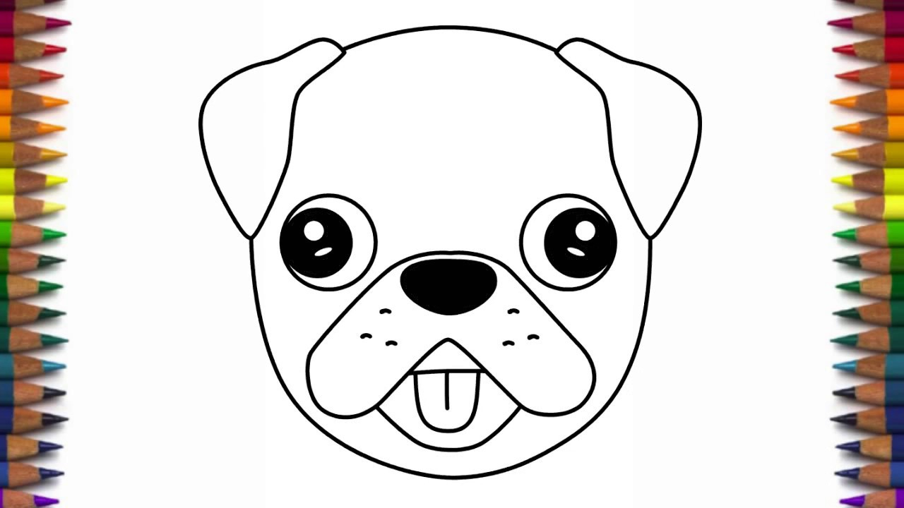 1280x720 Pug Drawing Step By Step How To Draw A Cute Dog Emoji Pug Quick