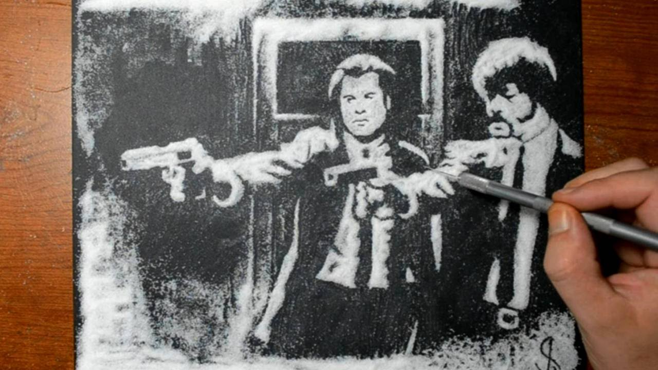 1280x720 Drawing Pulp Fiction In Sugar