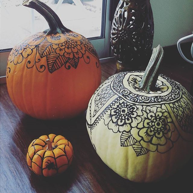 640x640 Ways To Decorate Pumpkins Without Carving Puff Paint, Hennas