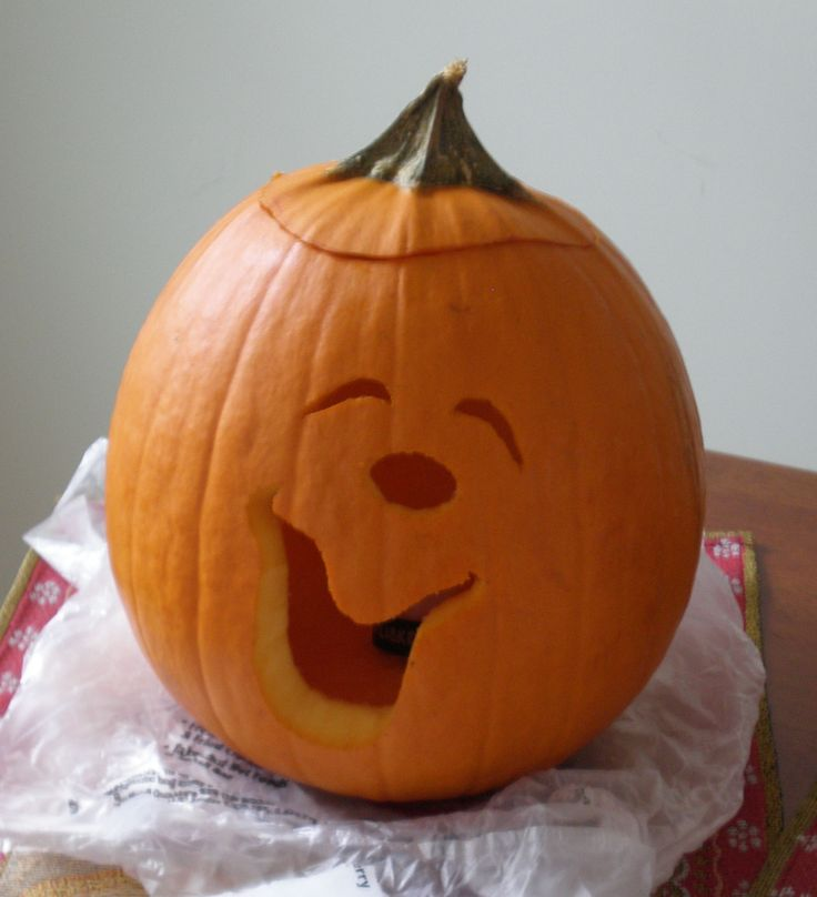 736x808 Cute Pumpkin Carving We Did By Drawing The Face Upside Down