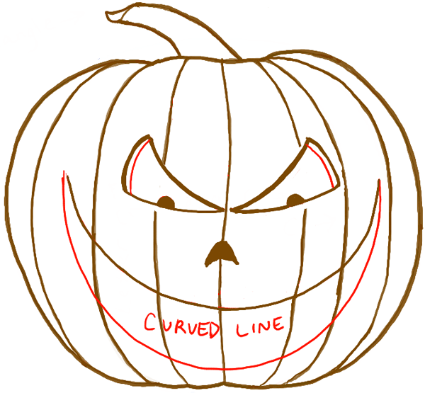 600x555 How To Draw A Scary Pumpkin Jack O Lantern In Easy Steps