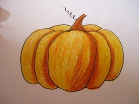 480x360 Easy Drawing For Kids,pumpkin Drawing And Shading In Simple Steps