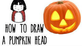 266x150 How To Draw A Pumpkin Head For Halloween
