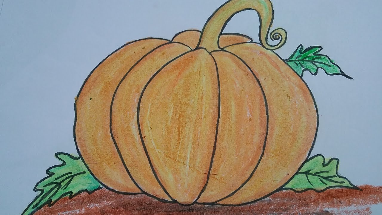 1280x720 How To Draw Pumpkin With Basic Shapes,easy Drawing For Kids