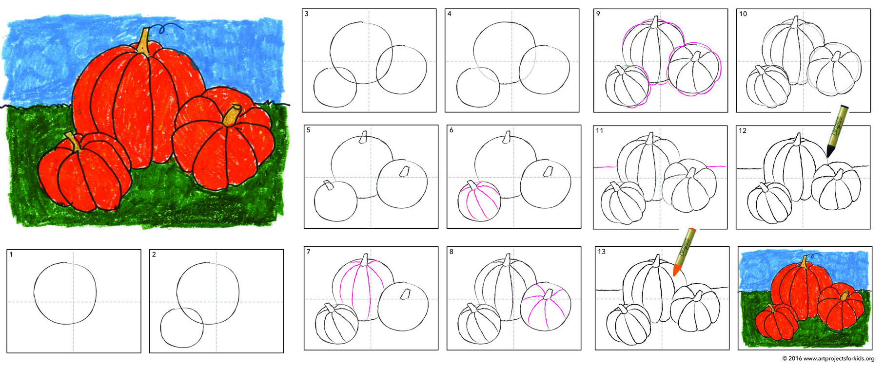 1813x752 Pumpkin Drawing