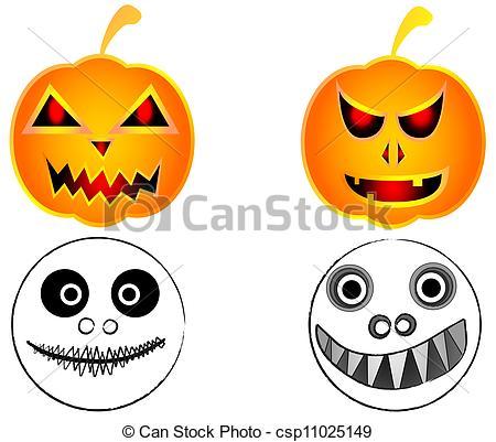 450x401 Halloween Pumpkin Scary Funny Ghost Eps Vector