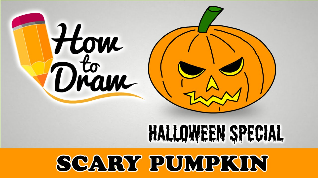 1280x720 How To Draw A Scary Halloween Pumpkin Face