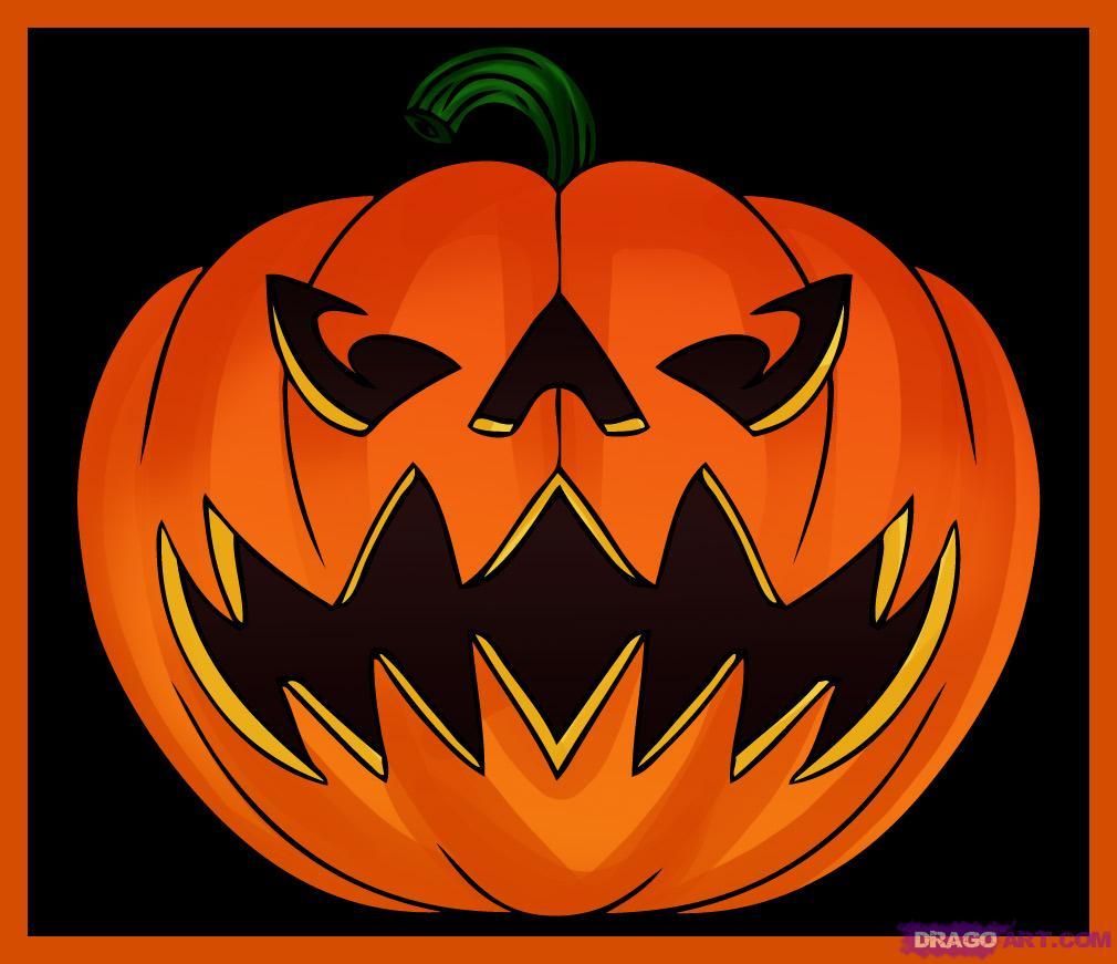 1010x871 How To Draw A Jack O Lantern, Step By Step, Halloween, Seasonal