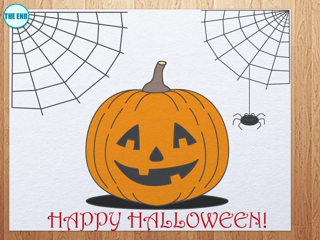 1056x793 How To Draw Pumpkin Head