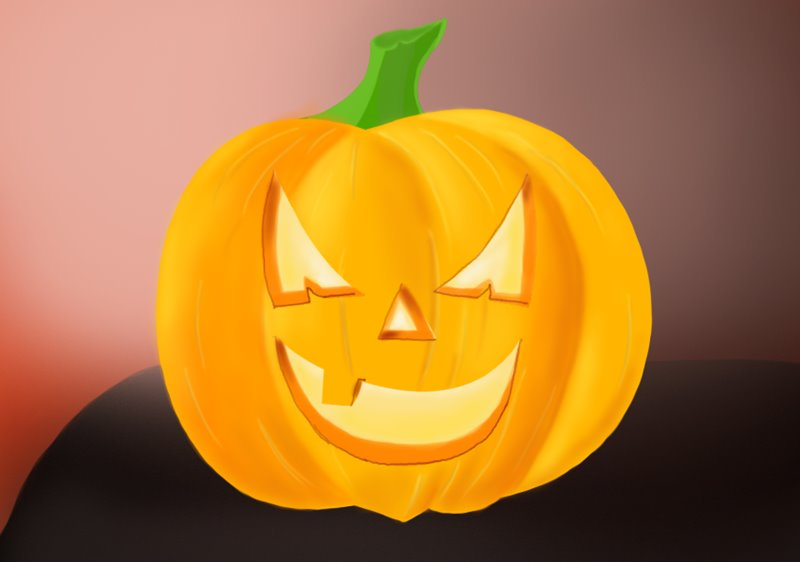 800x562 Learn How To Draw Halloween Pumpkin (Halloween) Step By Step