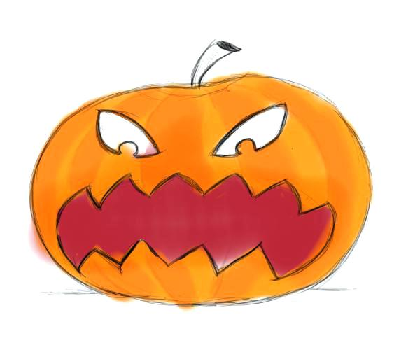 600x500 Here Are Easy Scary Pumpkin Faces Pictures Drawing Pumpkin Faces