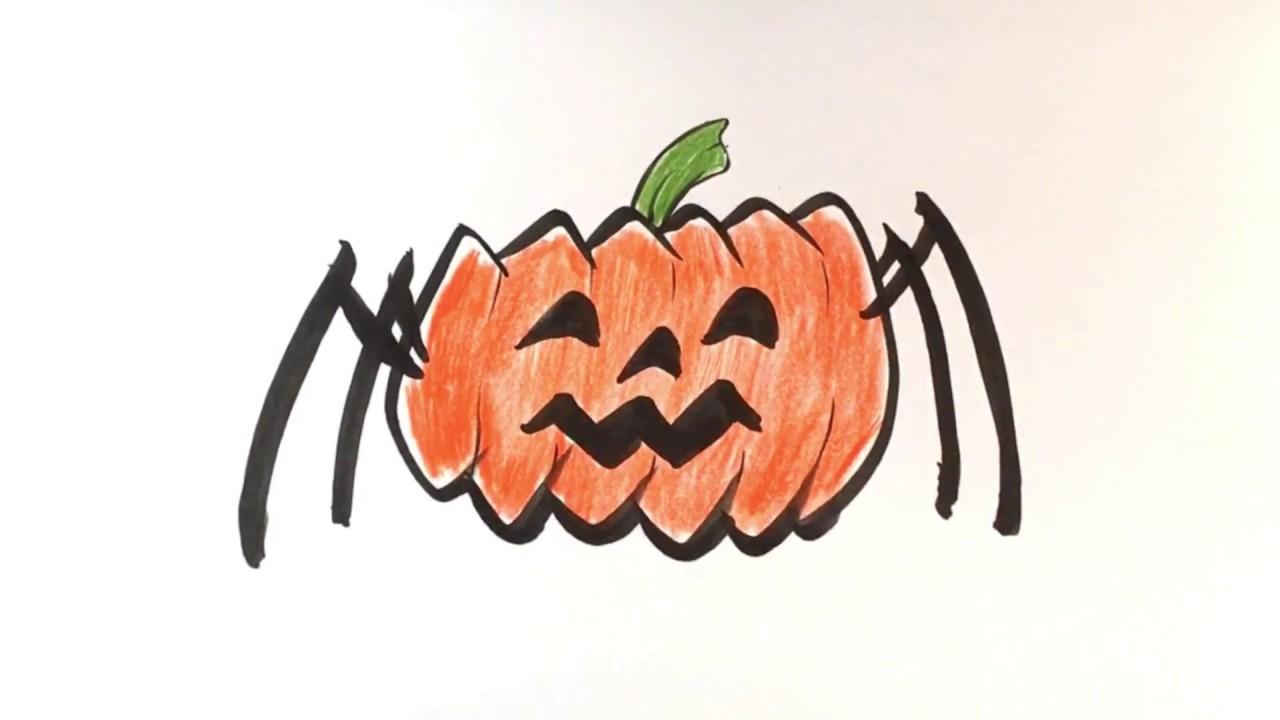 1280x720 How To Draw Pumpkin Spider