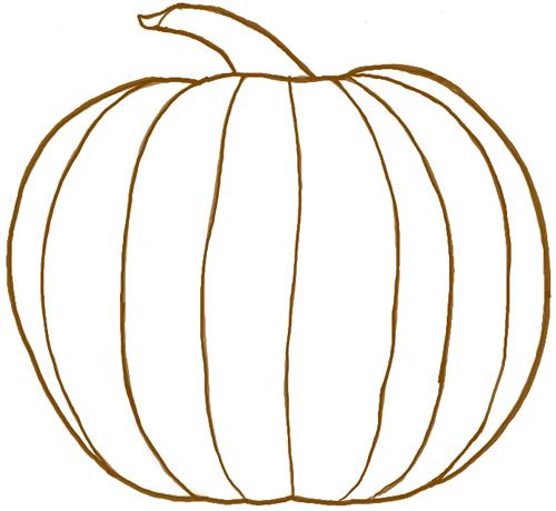 500x460 Simple Pumpkin Drawing Sunglassesray