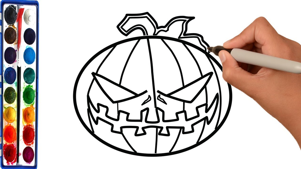 Pumpkin Drawing Pages at GetDrawings.com | Free for personal use ...