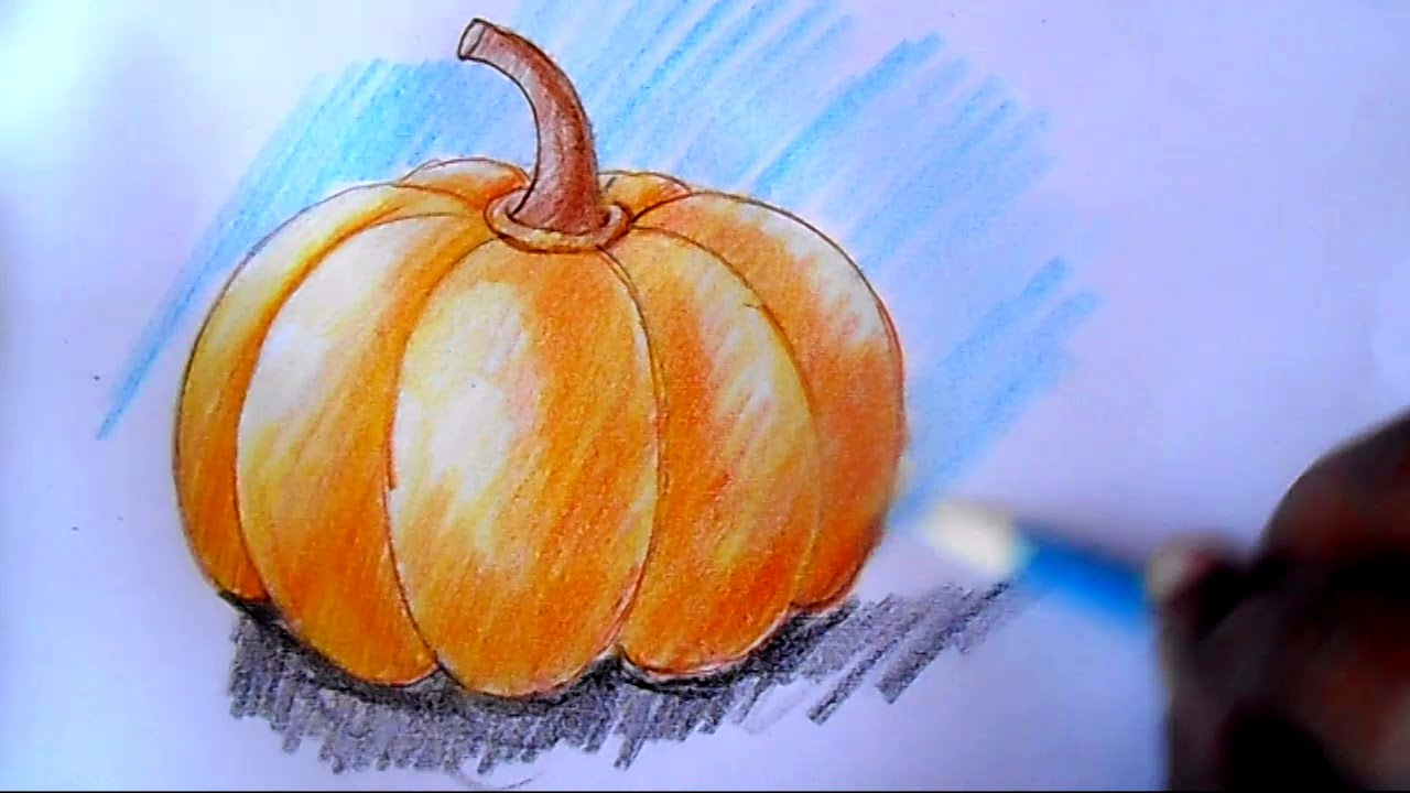 1280x720 How To Draw Pumpkin Step By Step