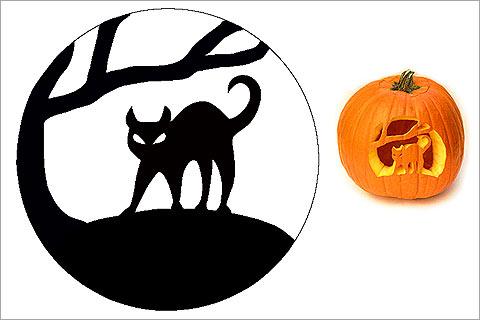 480x320 28 halloween cat pumpkin stencils for a spooky halloween band of