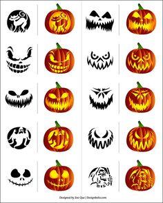236x295 25 (Easy) Free Halloween Pumpkin Carving Templates Pumpkin