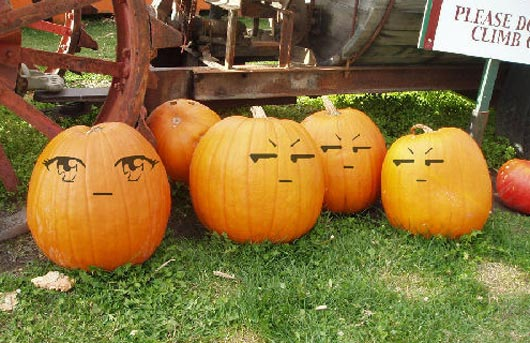 530x343 30 funny faced halloween pumpkin drawings and painting ideas