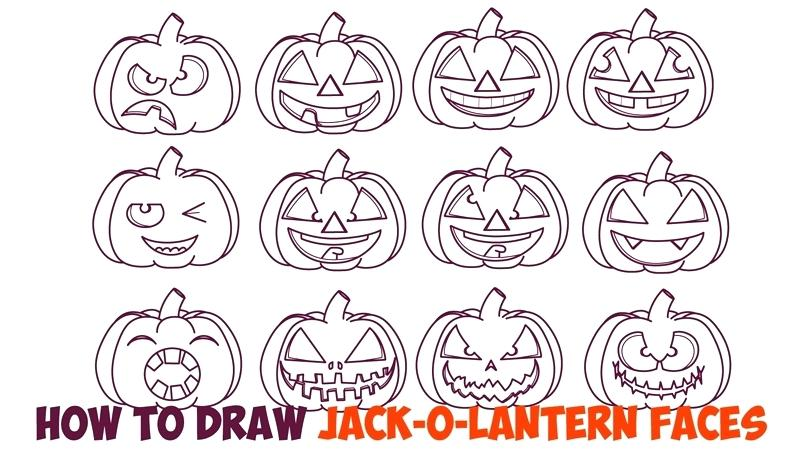 800x459 Pumpkin Drawing Pumpkin Drawing Pumpkin Face Drawing Ideas