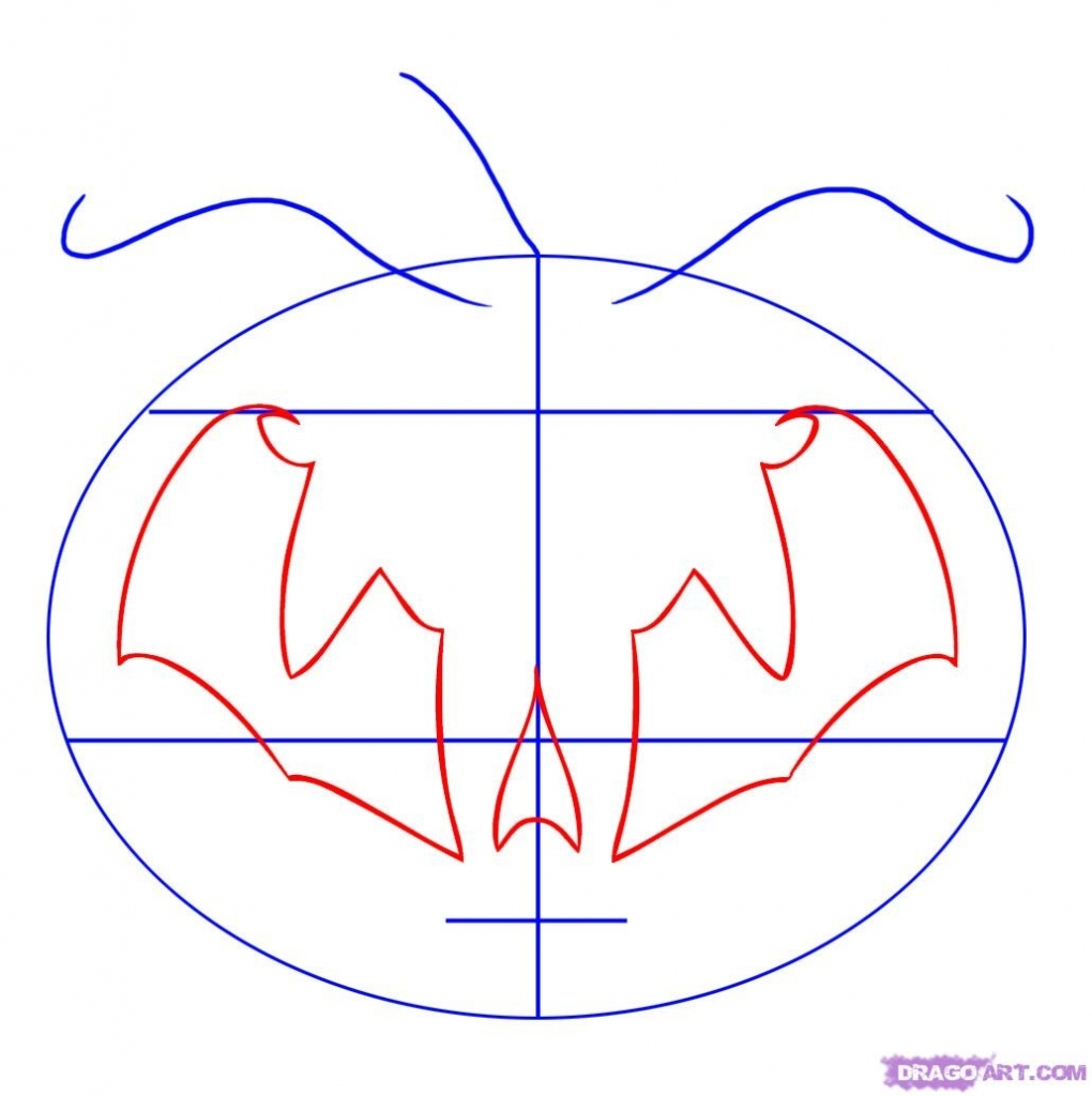 1020x1024 Pumpkin Faces To Draw How To Draw A Tribal Pumpkin Face Step Step