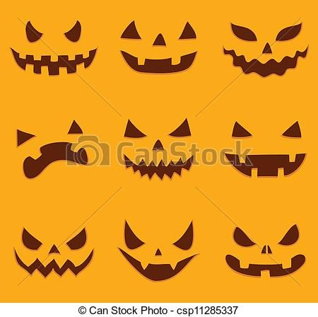 450x448 Scary Pumpkin Faces To Draw