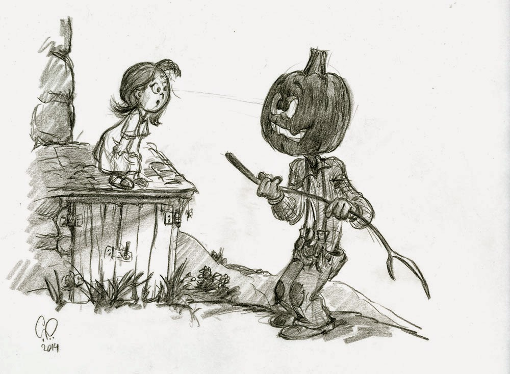 Pumpkin Head Drawing At Getdrawings Com Free For Personal Use