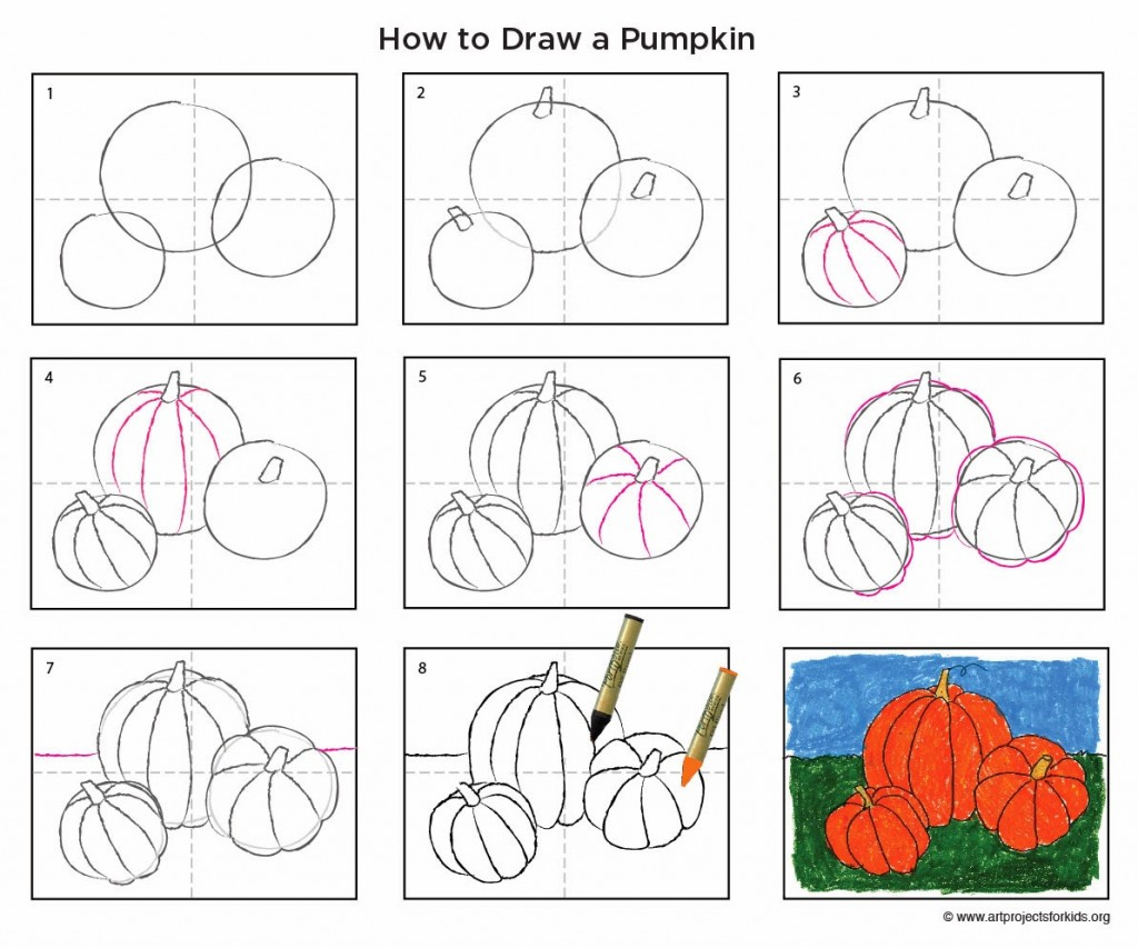 Pumpkins Drawing At Free For Personal Use Diagram Of A Pumpkin 1024x853 How To Draw Homeschool And School