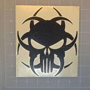 300x299 Punisher Biohazard Skull Symbol Decal Sticker Zombie Bumper Car