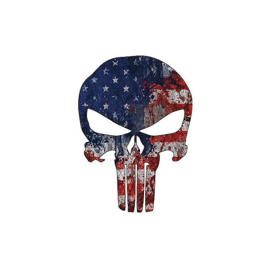 570x560 Punisher Skull American Flag Full Color By Xtremetotalgraphix