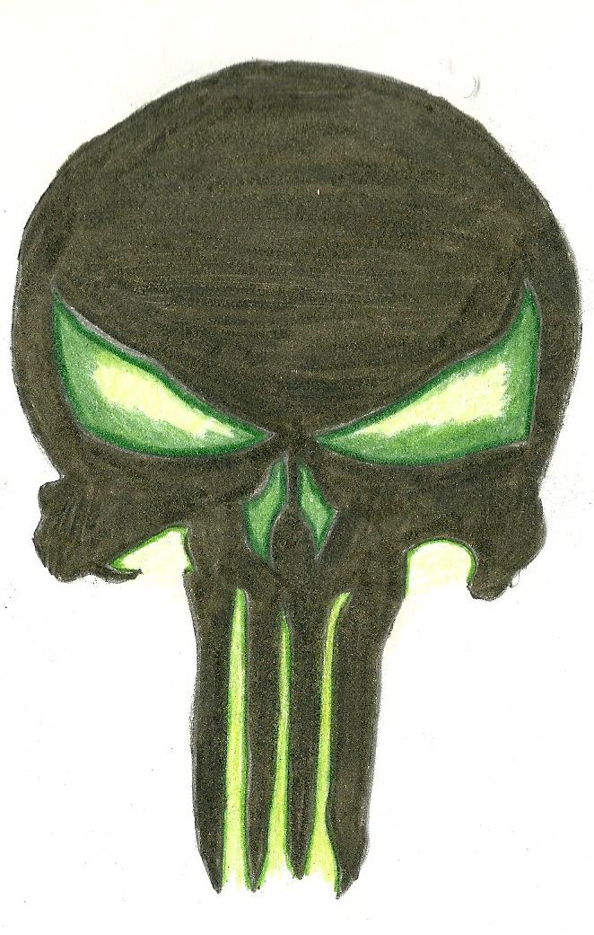 662x1041 Punisher Skull By Hazardreborn
