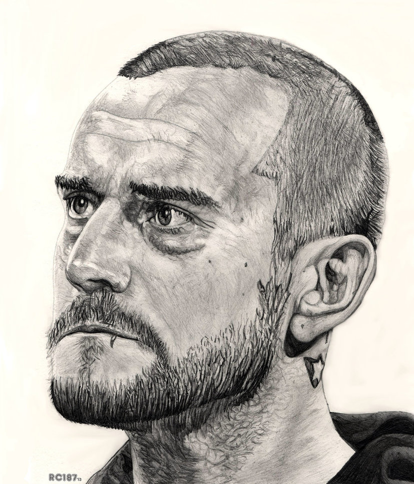 827x967 Cm Punk Drawing By Redchaos187