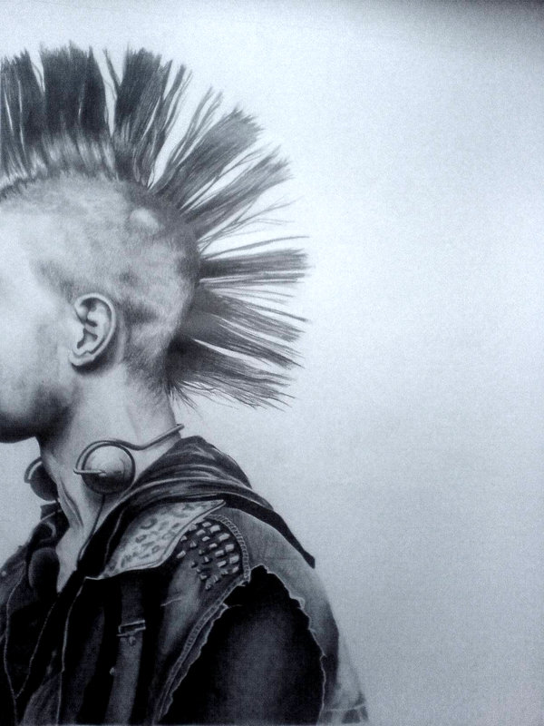 600x800 Huge Pencil Drawing Of A Punk By Louisa911
