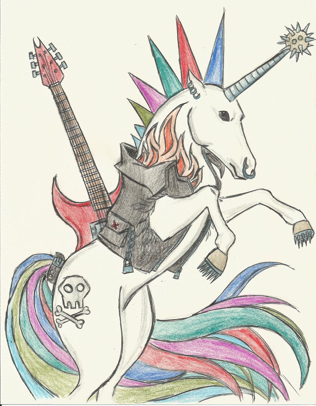 1024x1315 Punk Unicorn Punk Rock Unicorn By Kacey007
