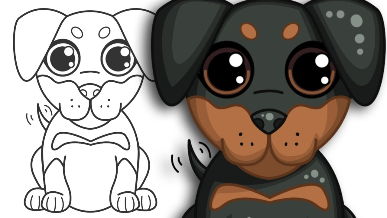 1280x720 How To Draw A Puppy Step By Step Drawing