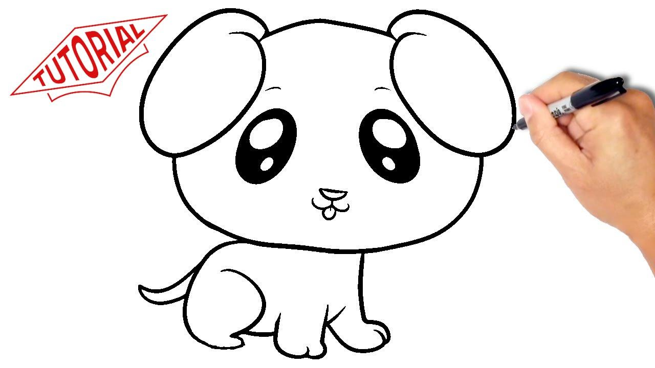 1280x720 How To Draw A Puppy (Dog). Very Simple. Easy Step By Step Drawing