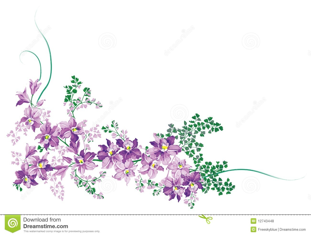 This is a picture of Mesmerizing Purple Flowers Drawing