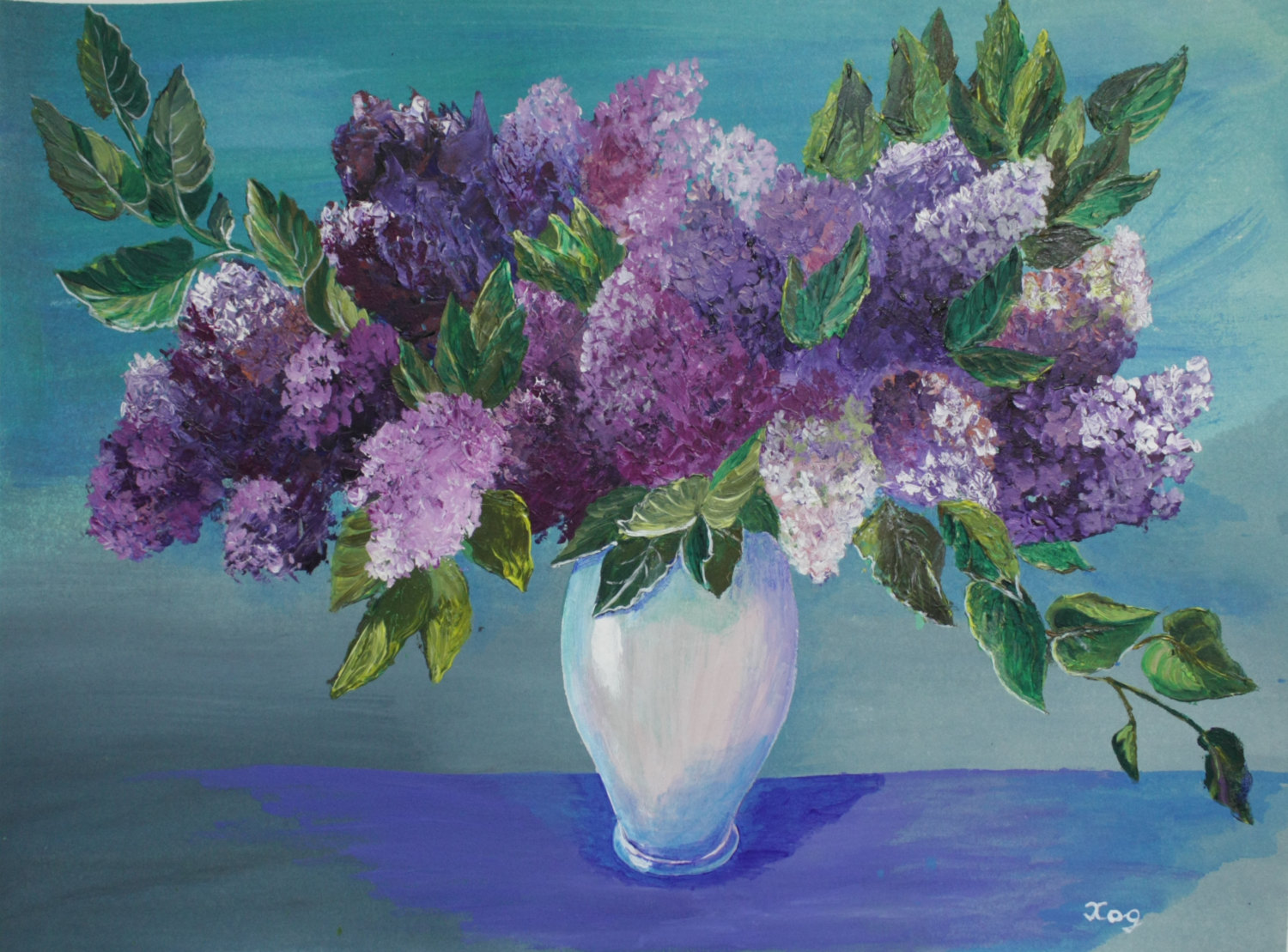 Purple flowers drawing at free for for Floral acrylic paintings