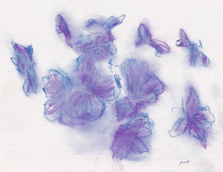 770x594 Saatchi Art Purple Flowers Drawing By Jeffrey Yount