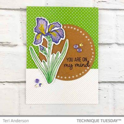 400x400 Purple Iris On My Mind Card Technique Tuesday
