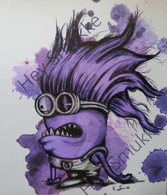 548x640 Evil Minion Drawing, Minion Print, 8x10, Despicable Me, Fan Art