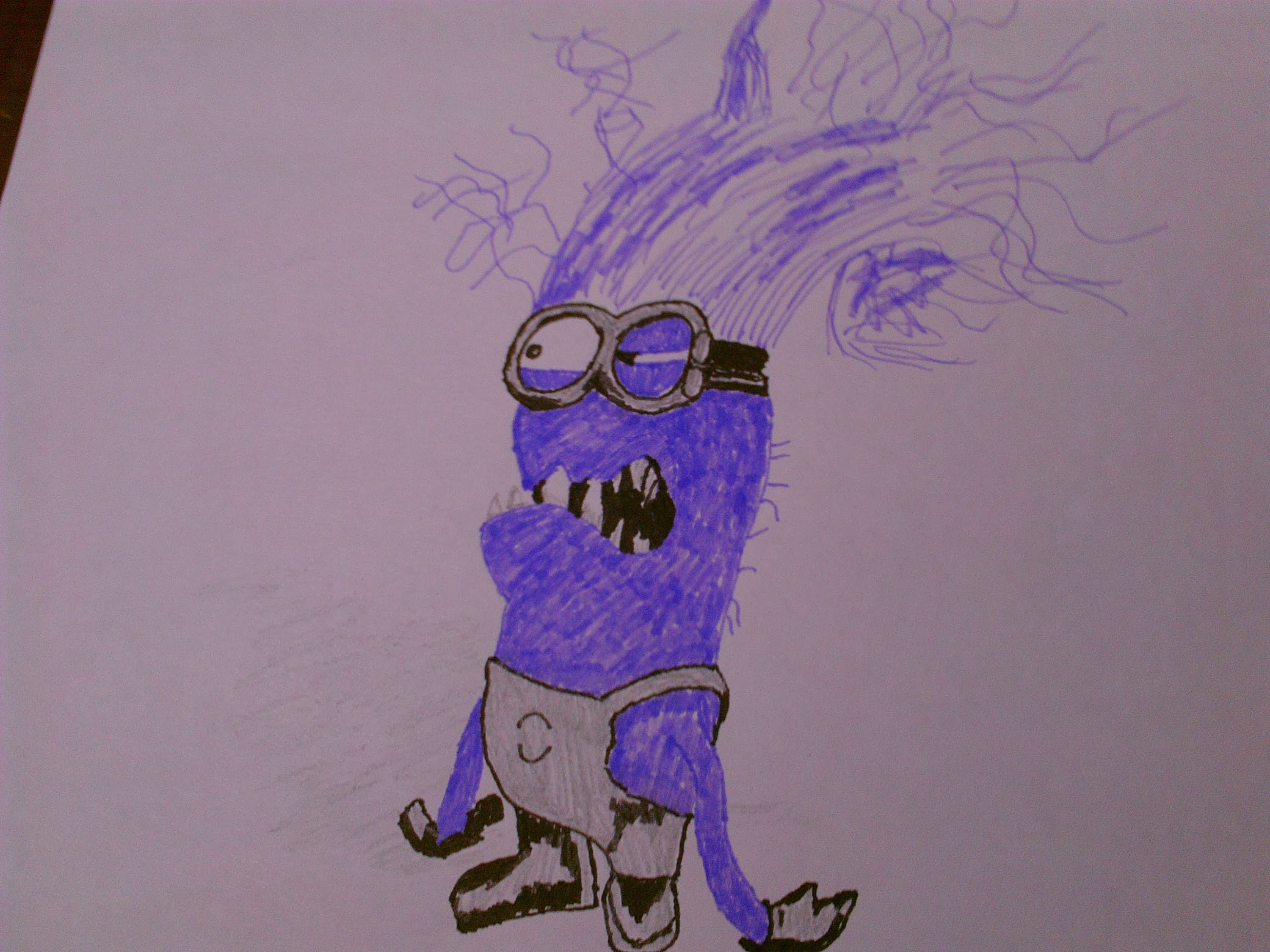 3000x2250 How To Draw A Despicable Me 2 Evil Minion