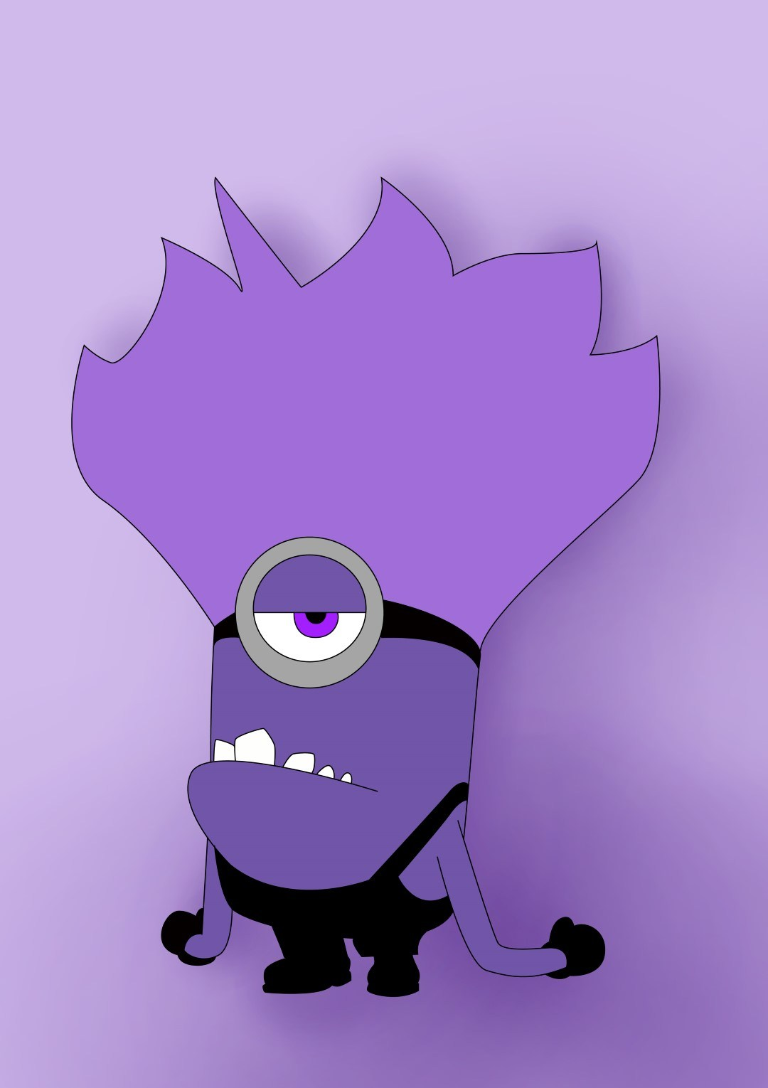 1080x1530 How To Draw Purple Minion From Despicable Me