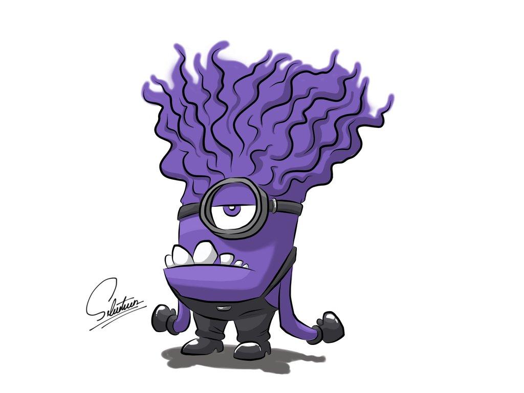 Purple Minion Drawing ...