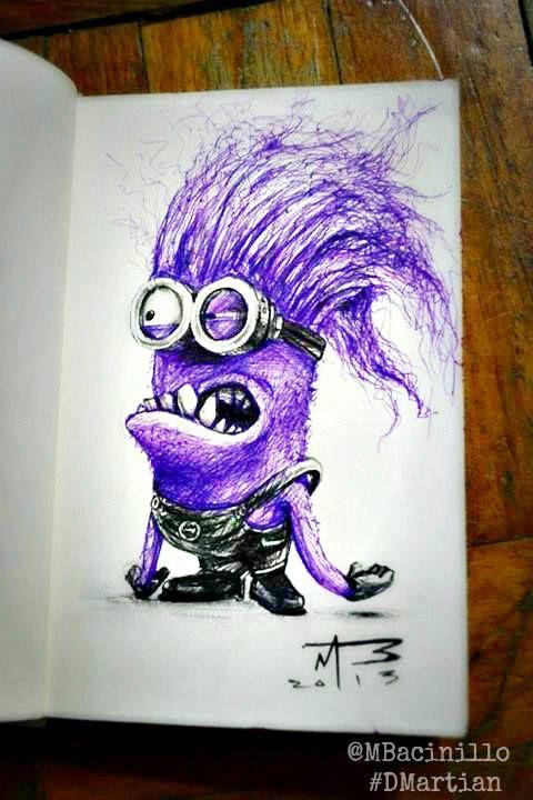 480x720 Purple Minions Drawing
