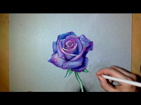 480x360 How I Draw A Realistic Purple Rose