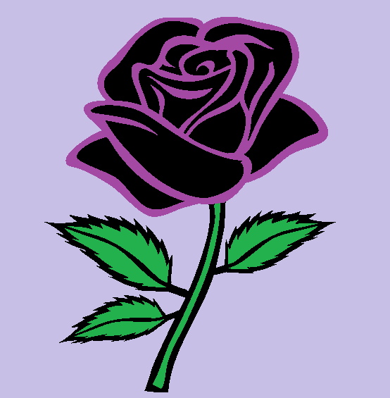554x565 Purple Rose By Elviratepes