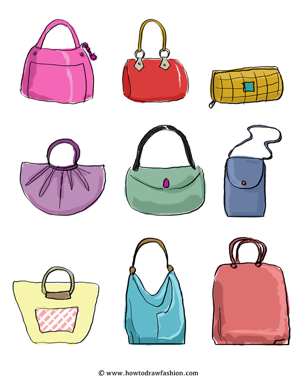 600x776 How To Draw Fashion Designing Purses